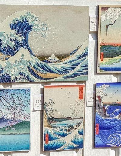 Story Horse Ukiyo-e woodblock prints. Doors display