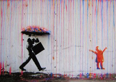 The joy of life, by Banksy