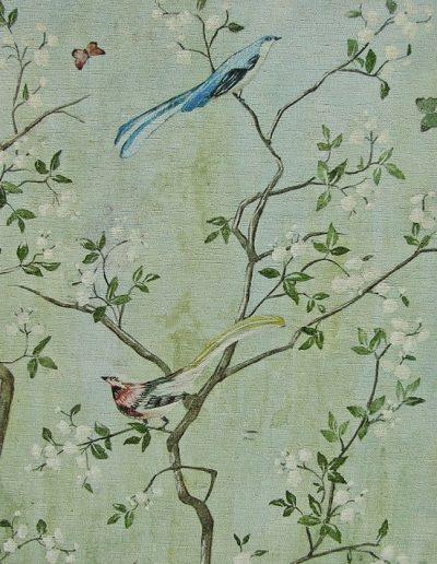 Vintage Chinoiserie wallpaper design
