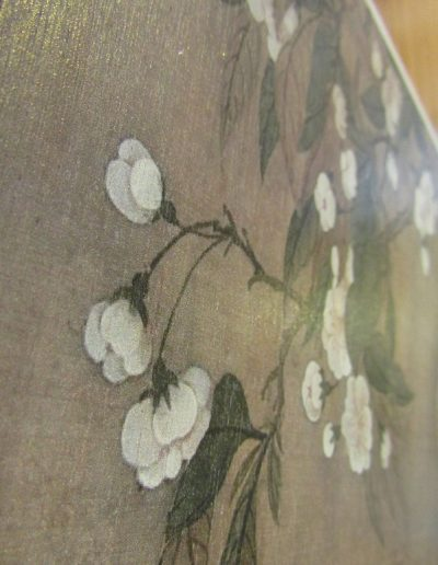 Story Horse storyhorse wood timber print for sale in Perth, made in Perth vintage floral flowers Yun Shouping 1688 tulip poppies chinoiserie wallpaper feature wall installation grainy original painting art pictures on wood photos inks custom ukiyo-e artworks original made in Western Australia WA marine plywood screenprint artisan local Perth Fremantle Subiaco Farmers Market South Perth community Kalamunda Makers Market rustic cool gift ideas gifts wall buy online for sale shop delivery sell
