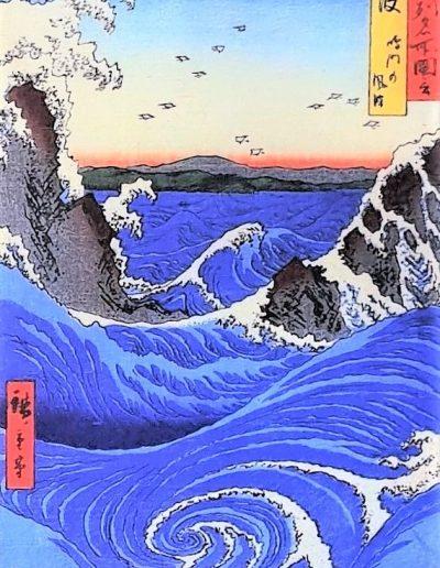 Naruto Whirlpool, Awa Province, by Utagawa Hiroshige (1853)