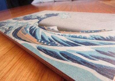Story Horse storyhorse Japanese Hokusai Great Wave wood block prints original timber painting art pictures on wood photos inks custom ukiyo-e artworks floating world original made in Western Australia WA marine plywood screenprint artisan local Perth Fremantle Subiaco Farmers Market South Perth community Kalamunda Makers Market rustic cool gift ideas gifts wall