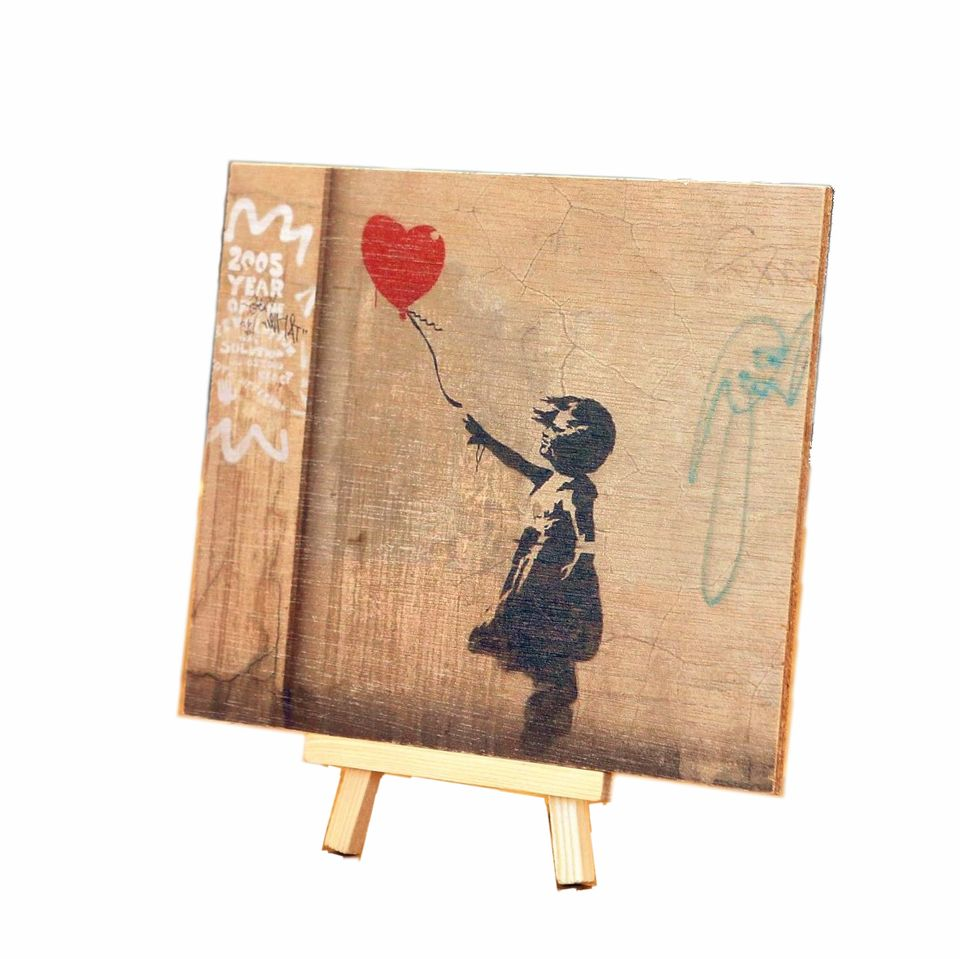 Story Horse storyhorse wood timber print for sale in Perth, made in Perth Banksy Black girl balloon red heart let go London there is always hope street art wallpaper feature wall installation grainy original painting street art pictures on wood photos inks custom 3D artworks original made in Western Australia WA marine plywood screenprint artisan local Perth Fremantle Subiaco Farmers Market South Perth community Kalamunda Makers Market rustic cool industrial gift ideas gifts industrial vintage wall buy online for sale shop delivery sell